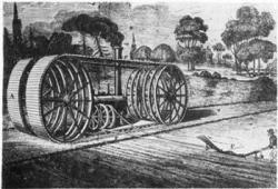 1837 John Heathcoat Tracked Ploughing Engine