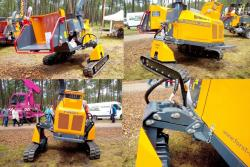 45 forst xr8 traxion tracked wood chipper