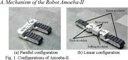 Amoeba II transformable tracked robot