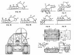 Articulated semi-track vehicle patent of David Hansen