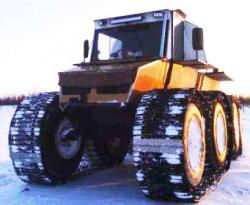 Berkut 8x8 with tracks from Tyumen plant