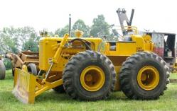 Caterpillar D6 on wheels