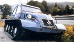 Citroen 2 Ch with tracks
