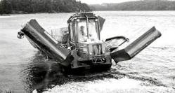 Forestry forwarder amphibious
