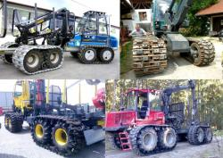 Forwarder with Street Rubber tracks