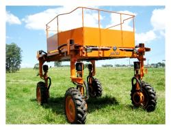 Four wheel steering agricultural robotic platform