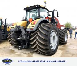 Goodyear Farm Tires on Agco Tractor