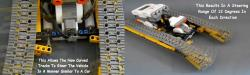 Lego mindstorms flexible track vehicle