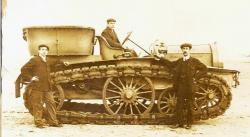 Mercedes Car with Hornsby Tracks 1908