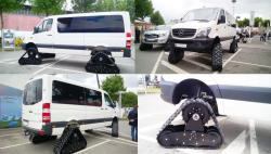 Mercedes sprinter 4x4 with acf tracks
