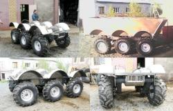 Off road amphibious vehicle skid steer 6x6 petrozavodsk