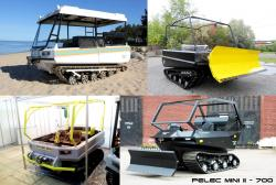 Pelets tracked vehicles