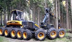 Ponnse multi wheeled harvester prototype