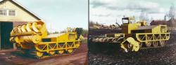 Suokone Merko tractor and screw leveller, 1972