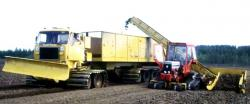 Suokone peat transportation unit with belt tracks KY45KP, 1985