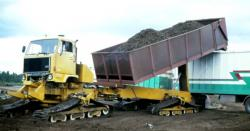 Suokone peat transportation unit with full tracks KY45TT, 1985