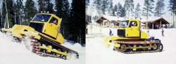 Suokone proto Suokko 300 test runs in snow, 1984
