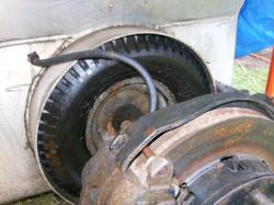 Suspension of the drive axle