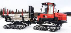 Tests of rubber tracked forwarder