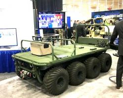 Tracked wheeled vehicle 8x8 of general dynamics