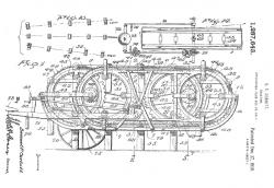 Patent of Corbitt Walking Tractor, 1917